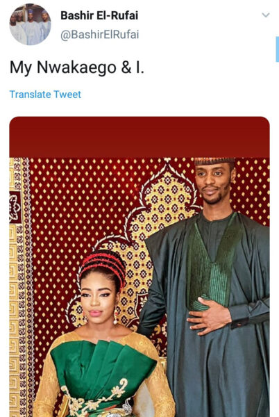 Bashir El-rufai releases pre-wedding photos with his bride-to-be named 'Nwakaego' and Nigerians reactions