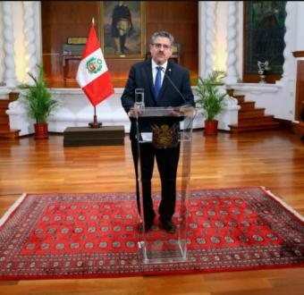 Peru's interim President Manuel Merino resigns
