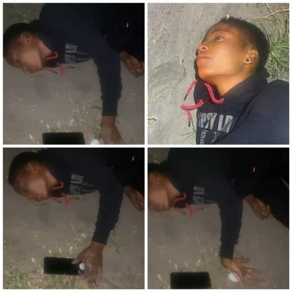 Lady found lying helplessly by the roadside in Lekki