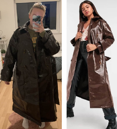 Expectation vs reality: Woman orders £75 ASOS coat online