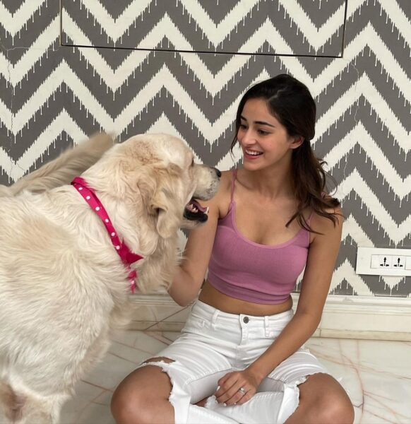 Ananya Panday shares paw-some Sunday clicks with her boys