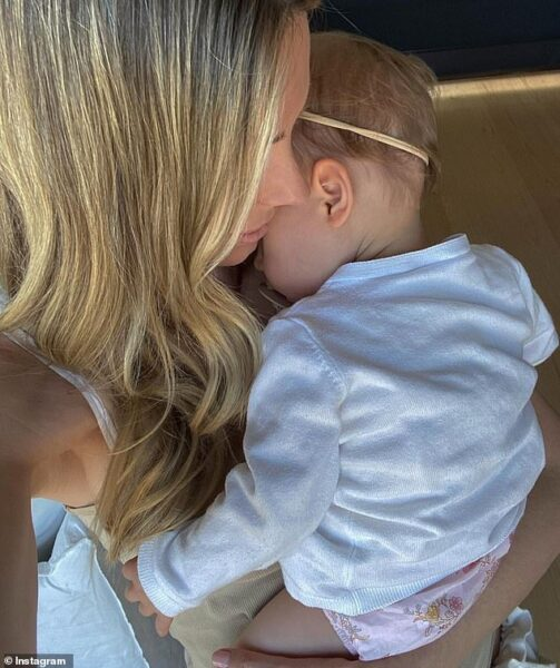 Jennifer Hawkins reveals the reality of motherhood as she dotes on daughter Frankie, one
