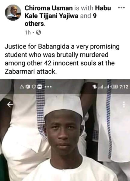 Babangida among farmers slaughtered by Boko Haram in Borno