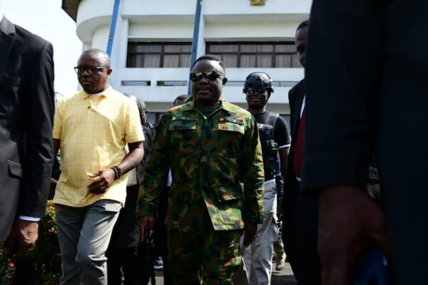 Governor Ayade steps out in military uniform