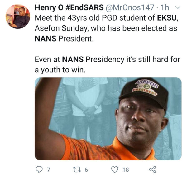 Nigerians react as 43-year-old emerges