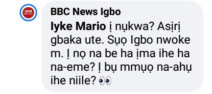 BBC News Igbo slams man who insulted Amara Kanu