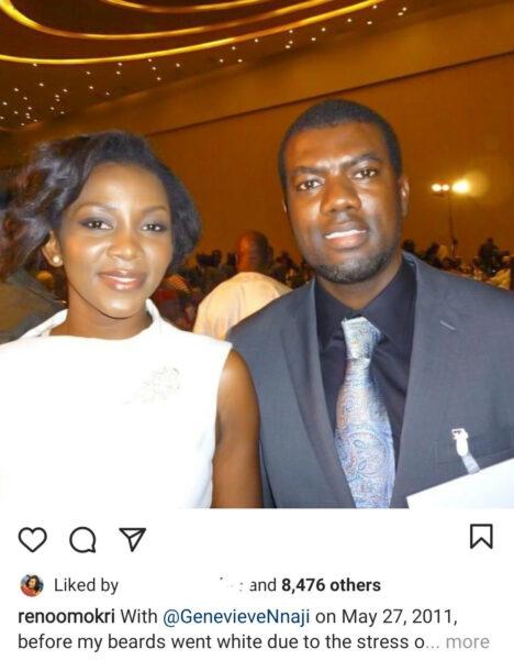 """""""My wife is far more beautiful than Genevieve Nnaji"""" - Reno Omokri"""