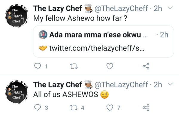 Chef complains on Twitter about Abuja, Lagos married Women