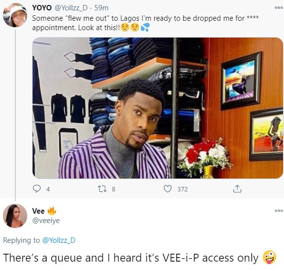 BBNaija' Vee marks her territory after a fan indicated interest in her man Neo