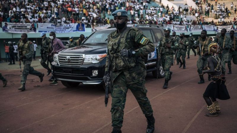 Russia and Rwanda send troops to protect Central African Republic president Touadera