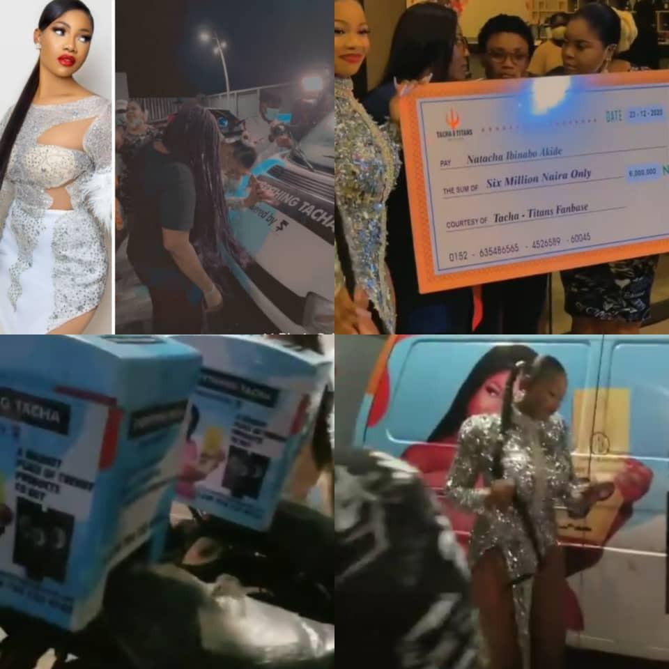 BBNaija Tacha fans gifted her N6m