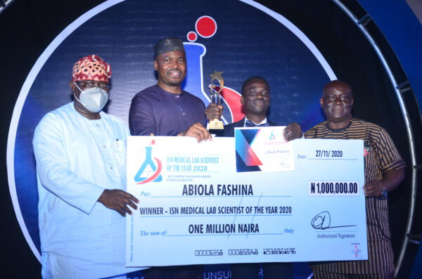 Abiola Fashina Emerges Winner of ISN Medical Laboratory Scientist of the Year Award 2020