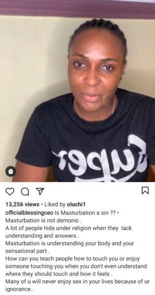 Blesisng Okoro says Masturbation is not a sin3