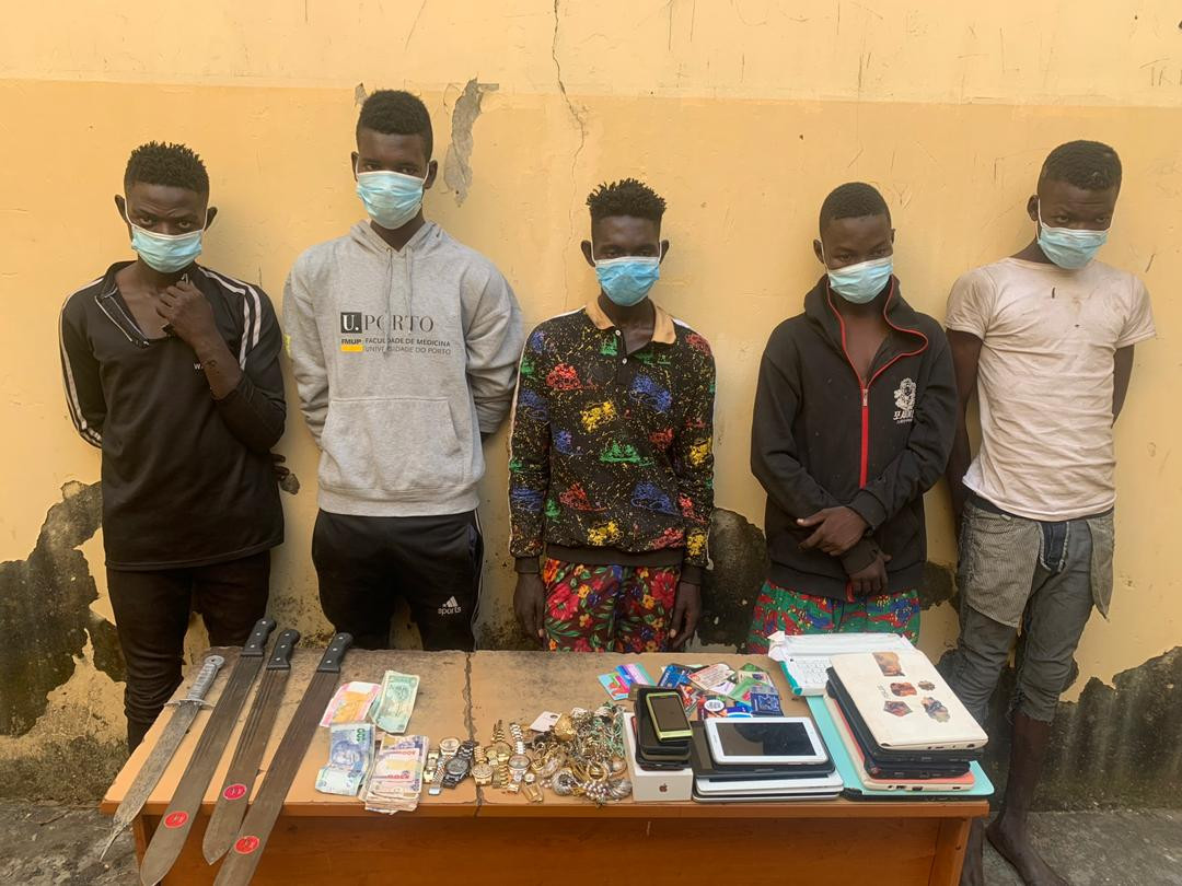 Five robbery suspects arrested in Abuja