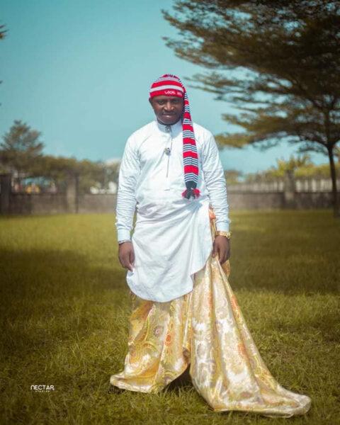 Groom wears traditional Efik attire for his church wedding in Akwa Ibom1