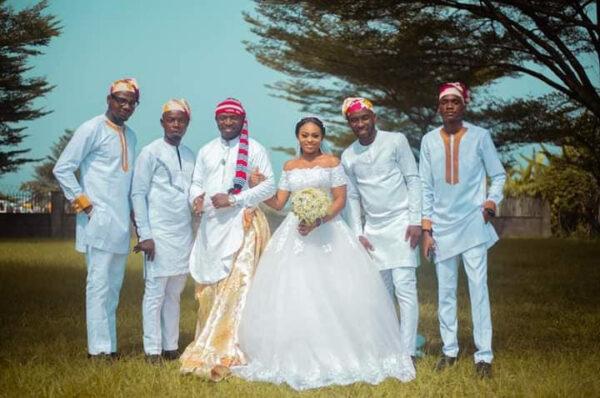 Groom wears traditional Efik attire for his church wedding in Akwa Ibom11