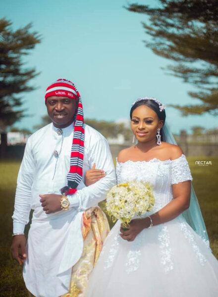 Groom wears traditional Efik attire for his church wedding in Akwa Ibom4