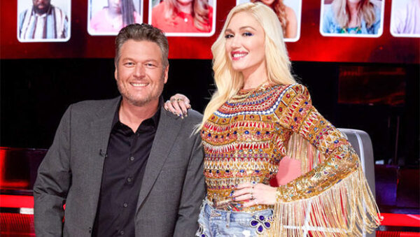 Blake Shelton & Gwen Stefani Show Off Engagement On 'The Voice' Live