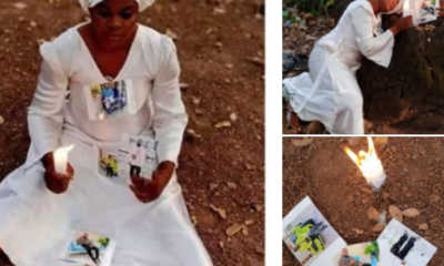 Nigerian lady starts 30 days fasting and prayers for Hushpuppi photos