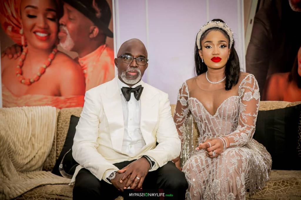 Photos of NFF President Amaju Pinnick and his family at his 50th birthday bash