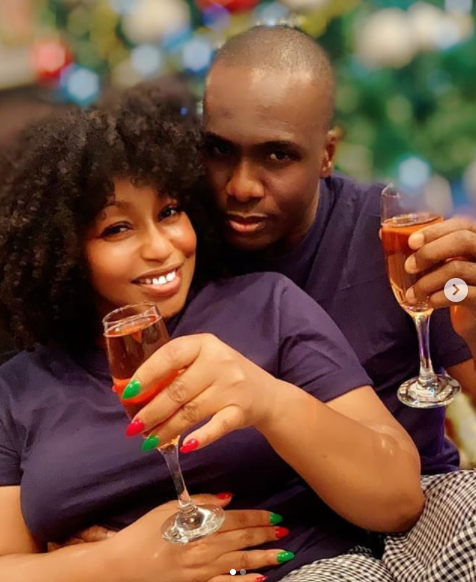 Rita Dominic shows off her man Daily Times Publisher Fidelis Anosike photos