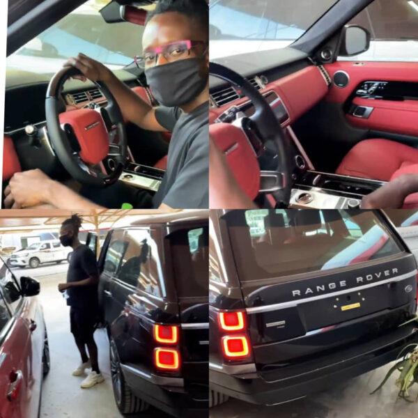 Singer, Mr Eazi, buys himself a Range Rover as Christmas gift