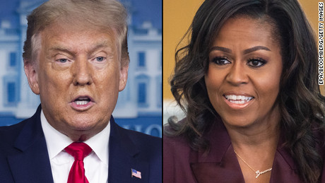 Trump and Michelle Obama win Gallups most admired man and woman of 2020