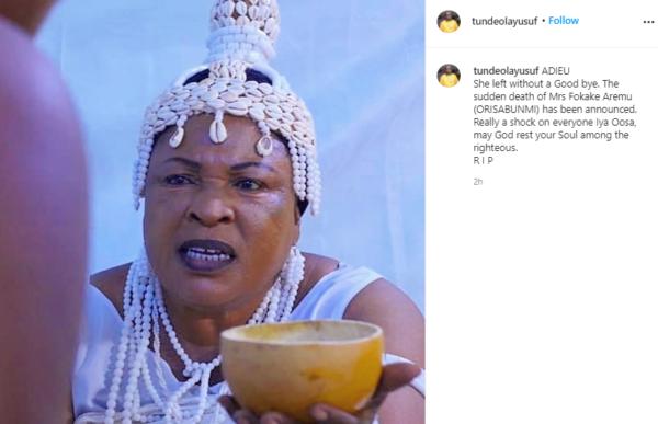 Veteran Yoruba actress Orisabunmi dies at 60