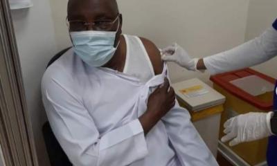Atiku Abubakar receives Coronavirus vaccine