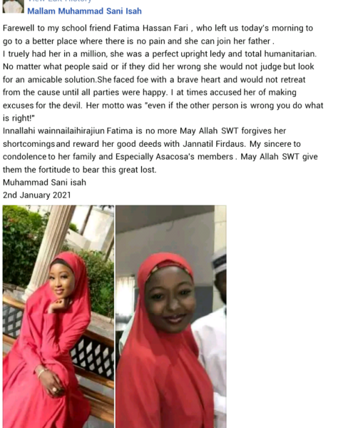 Beautiful bride-to-be dies 3 hours to her wedding in Katsina