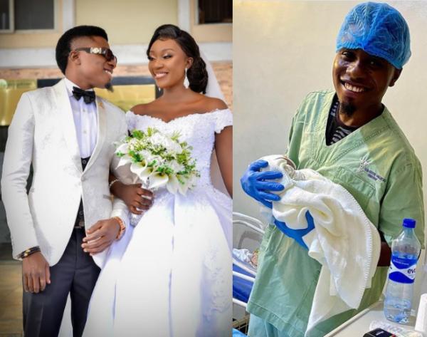Nigerian comedian Edo Pikin and wife Jojo welcome their first child a boy photos