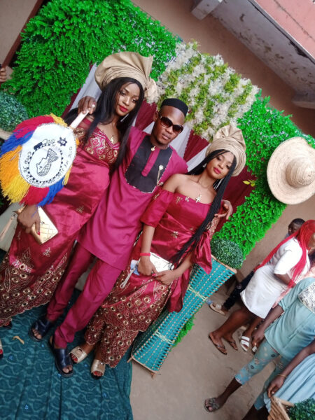 Nigerian man traditionally married twin sisters1