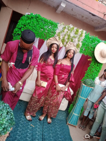 Nigerian man traditionally married twin sisters11