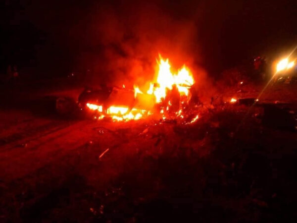 Nigerian man wife and four children burnt to death in a fatal accident