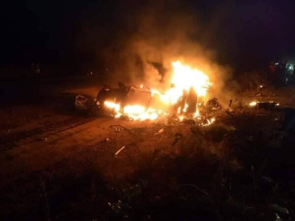 Nigerian man wife and four children burnt to death in a fatal accident1