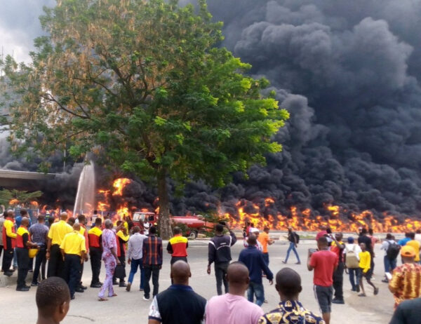 Oil tanker explodes in Lagos photos