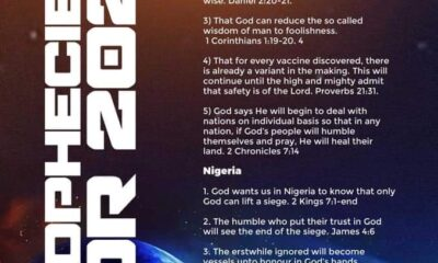 Pastor EA Adeboye Prophecies for 2021