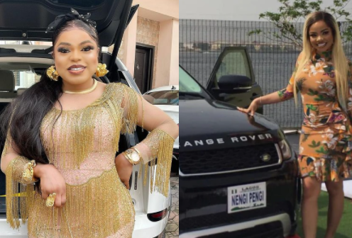 Bobrisky reacts to Nengi's Range Rover gift from her fans