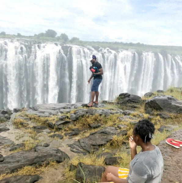 Tourist pictured near edge of Victoria Falls in Zimbabwe falls over 350 feet to his death