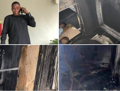Yoruba activist Sunday Igbohos house razed in Ibadan photos