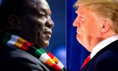 Zimbabwe President Emmerson Dambudzo Mnangagwa reacts to violence in US