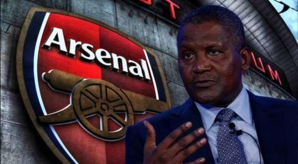 Aliko Dangotes bid to takeover Arsenal 'edging closer