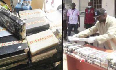 NDLEA intercepts Cocaine Worth Over N32bn At Lagos Port
