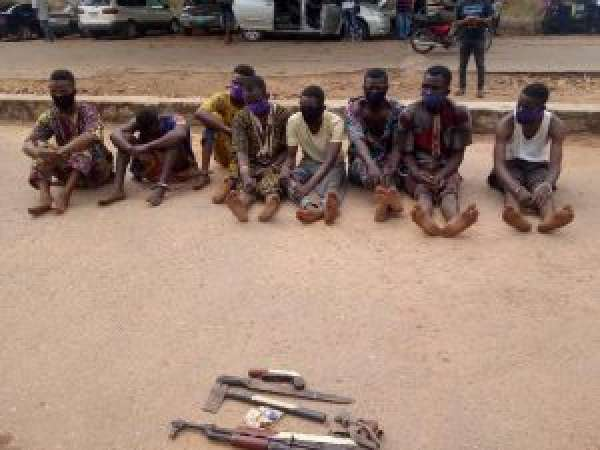 Police parade suspected kidnappers of LG chairman Others in Oyo