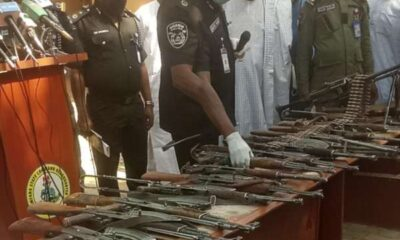 Son of notorious bandits leader surrenders 30 AK 47s two rocket launchers large cache of ammunition