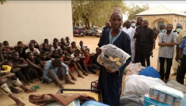 43 year old Islamic teacher and 33 others arrested for looting during Katsina market fire incident