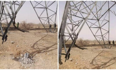 Boko Haram blows up power tower throws Maiduguri into darkness again