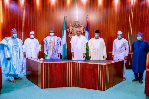 Buhari receives Bankole Daniel in Aso Rock