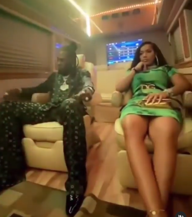 Burna Boy and his girlfriend rapper Stefflon Don enjoy night out in Lagos video