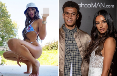 Dele Allis ex girlfriend Ruby Mae gives the middle finger after its revealed the footballer is seeking love on dating app after she dumped him